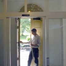Nya vindfånget och gamla dörren