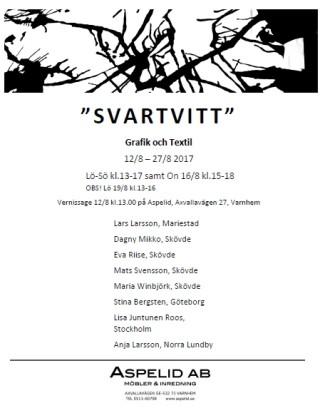 Affisch Svartvitt Utställning på Aspelid